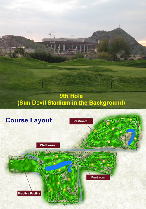 ASU Karsten 9th Hole and Course Layout